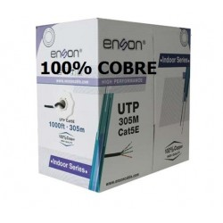 BOBINA DE CABLE UTP CAT.5E ENSON 305M 100% COBRE INTERIOR