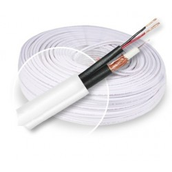 ROLLO CABLE COAXIAL RG59 50MTS BLANCO