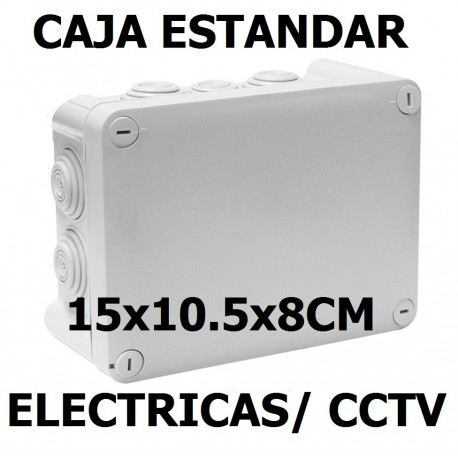 GABINETE CAJA STD TIPO NEMA15x10.5x8CM 10 ENTRADAS EXTERIOR IP55